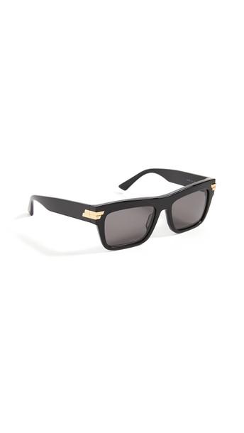 Bottega Veneta New Entry Acetate Square Sunglasses in black