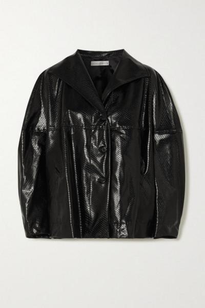 palmer/harding palmer//harding - Rhesus Oversized Snake-effect Faux Leather Jacket - Black