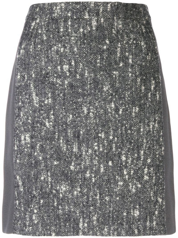 Balenciaga Pre-Owned 2000's marled A-line skirt in grey