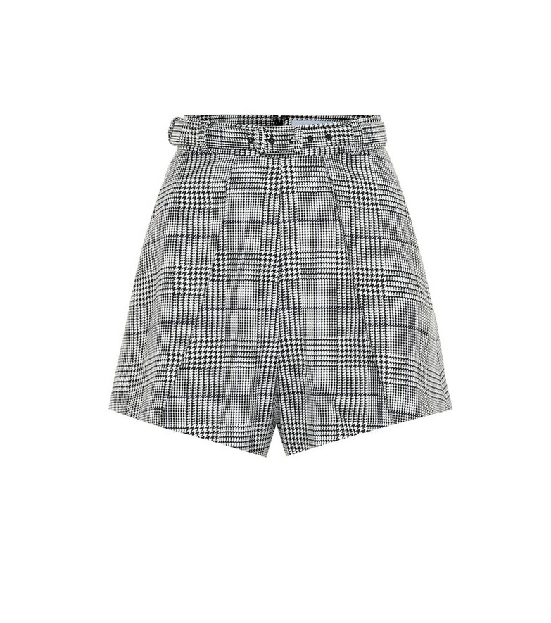 Self-Portrait Checked shorts in grey