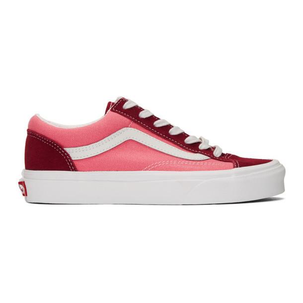 Vans Pink & Burgundy Style 36 Sneakers