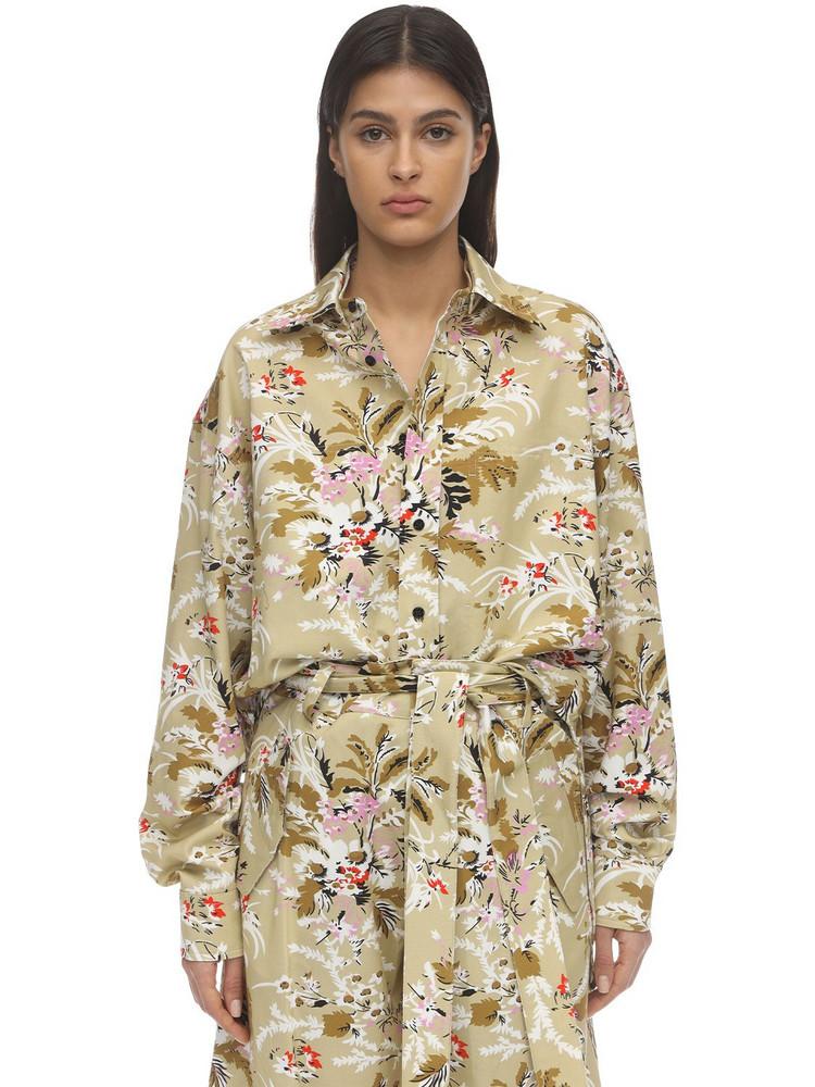 COLVILLE Flower Print Cotton Shirt