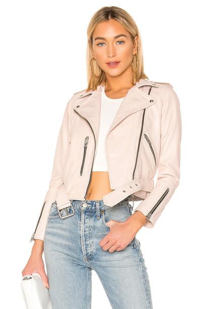 ALLSAINTS Balfern Biker Jacket in blush
