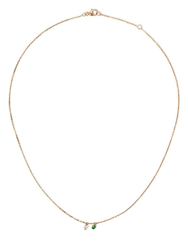 Raphaele Canot 18kt rose gold Set Free diamond and tsavourite necklace in pink
