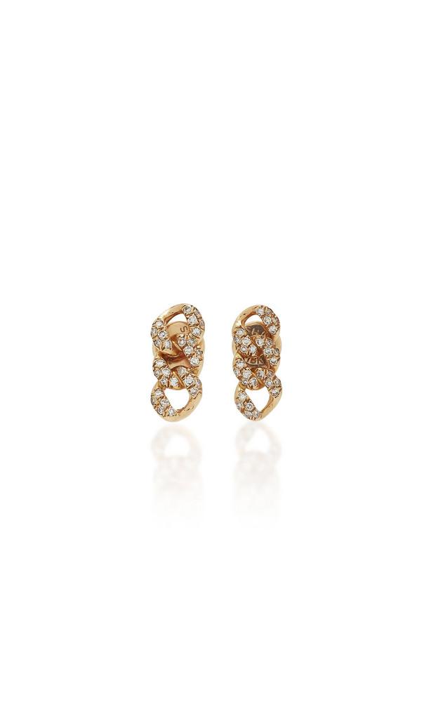 Shay 18K Rose Gold Diamond Earrings in pink