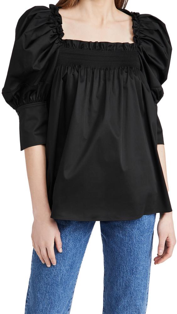 Adeam Tulip Top in black