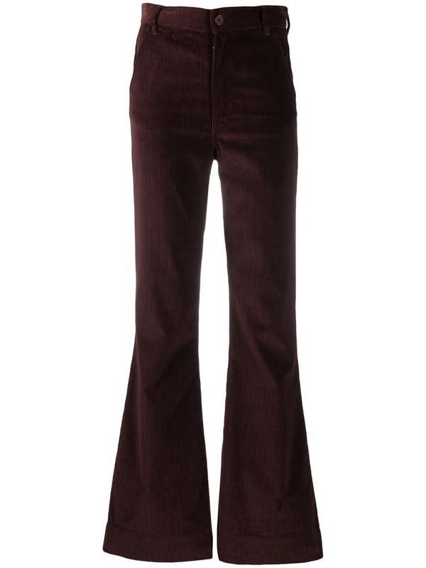 Katharine Hamnett London Marina corduroy flared trousers in red