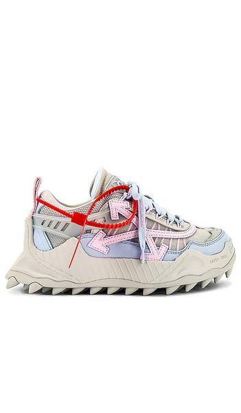 OFF-WHITE Odsy 1000 Sneaker in Grey in pink / beige