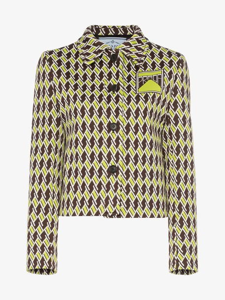Prada psychedelic print button-up jacket
