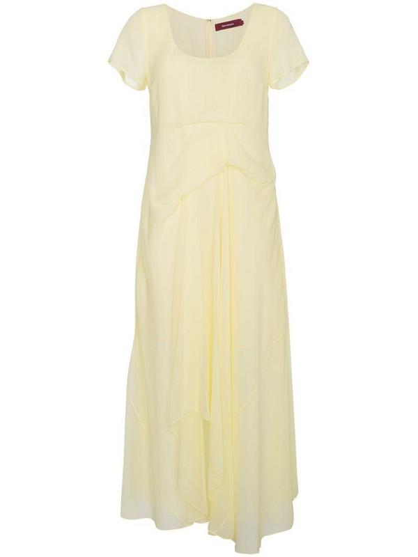 Sies Marjan silk scoop-neck dress in yellow
