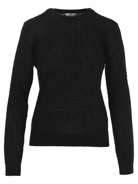 Fendi Monogram Sweater in black