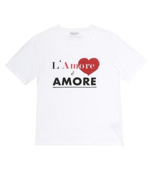 Dolce & Gabbana Kids L'Amore cotton T-shirt in white