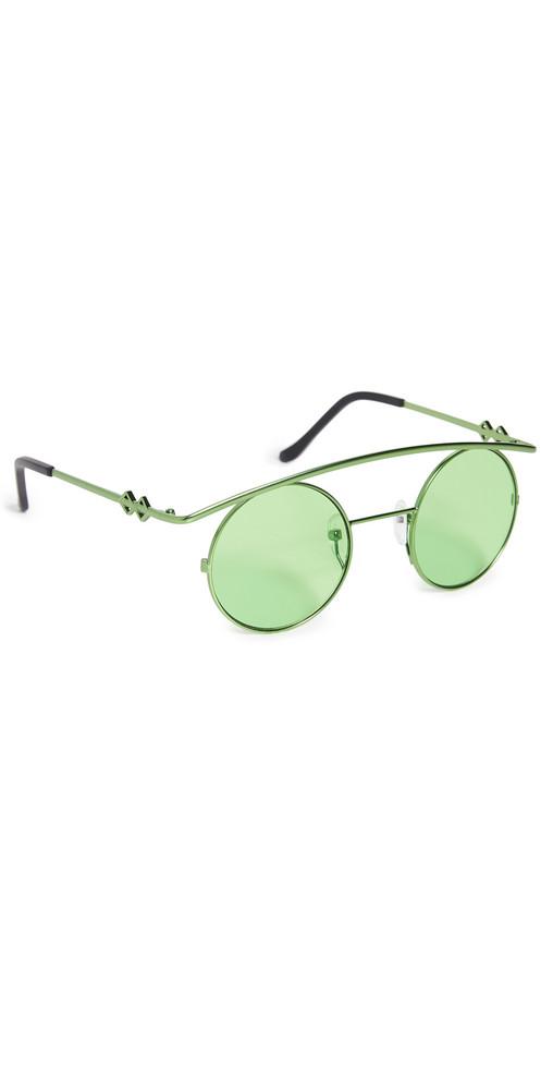 Karen Wazen Retro's Sunglasses in green