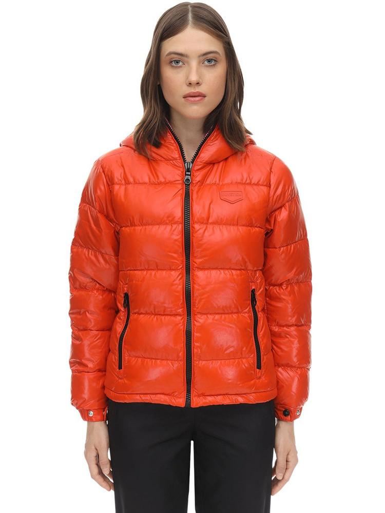 DUVETICA Kuma Nylon Down Jacket in orange