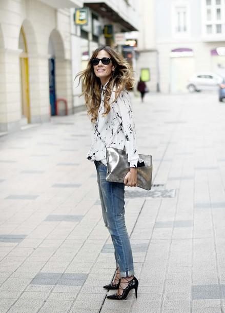 rebel attitude blogger shirt jeans shoes bag