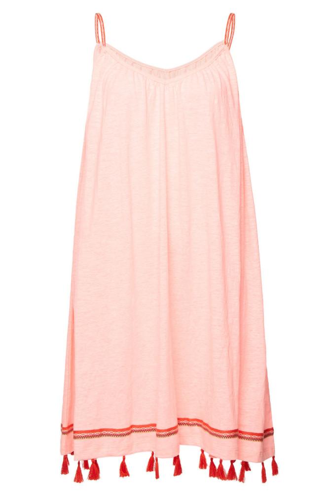 Pitusa Mallorca Mini Dress with Cotton  in magenta