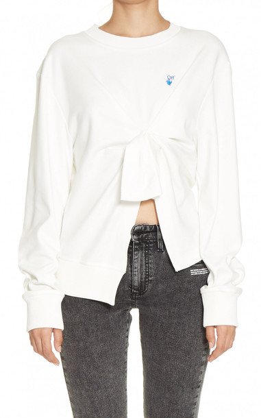 Off-White c/o Virgil Abloh Mariacarla Wrap Sweater Size: 36