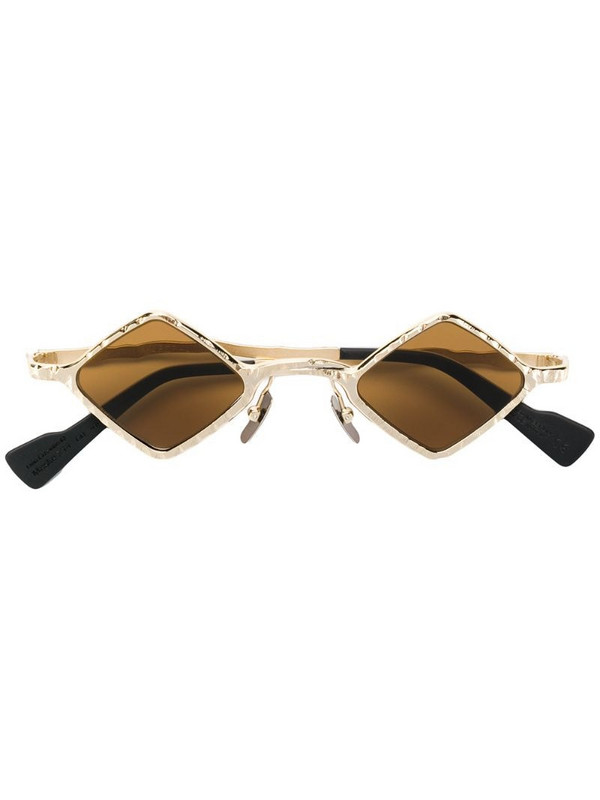 Kuboraum geometric tinted sunglasses in gold