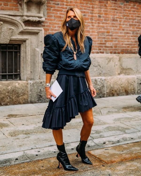 shoes black boots patent shoes asymmetrical skirt max mara jacket
