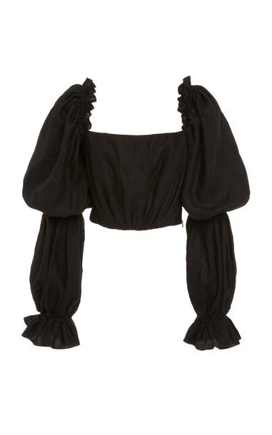 Andres Otalora Pietri Linen Blouse in black