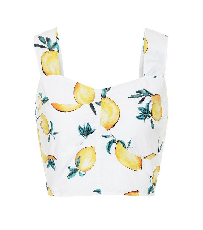 Alexandra Miro Exclusive to Mytheresa – Maia printed cotton-poplin top in white