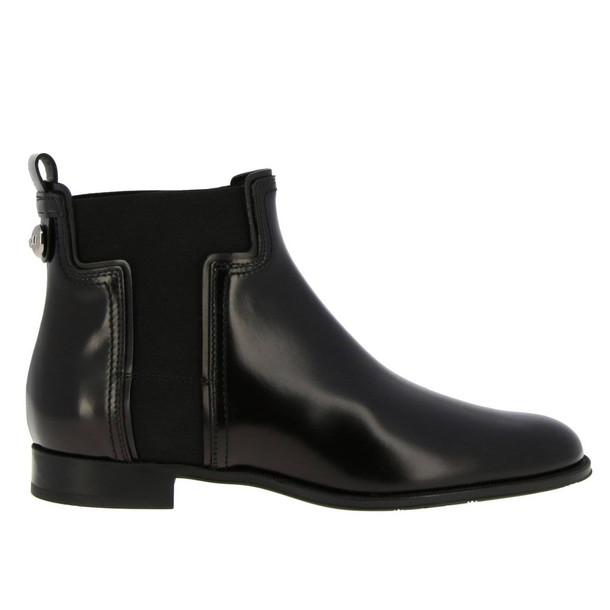 Tods Flat Booties Shoes Women Tods in black