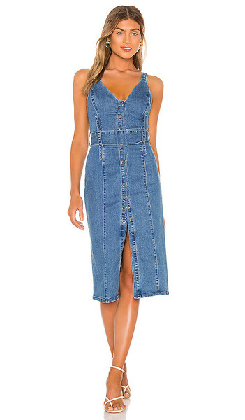 Finders Keepers Coco Midi Dress in blue