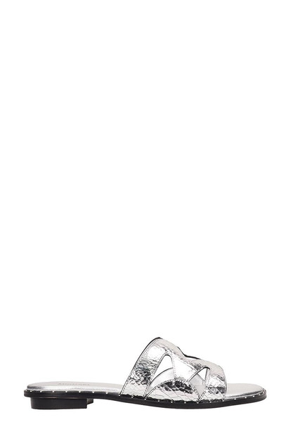 Michael Kors Silver Leather Annalee Sandals