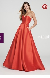 dress,red,red strapless,red prom dress,red strapless dress