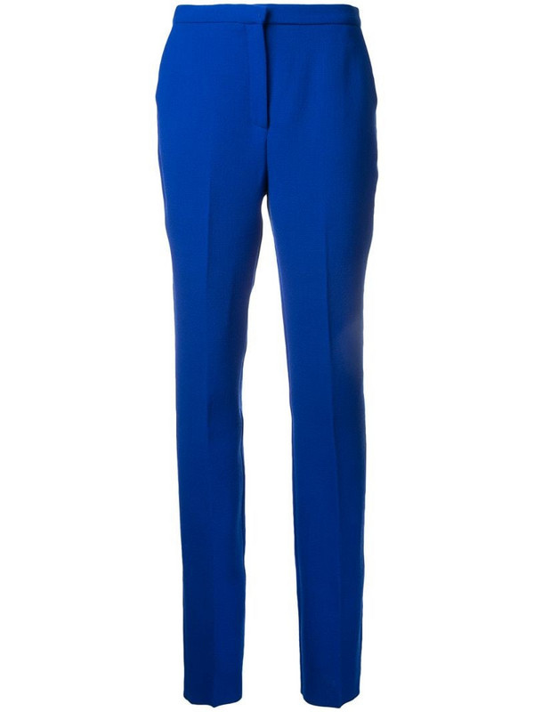 Mary Katrantzou slim fit trousers in blue
