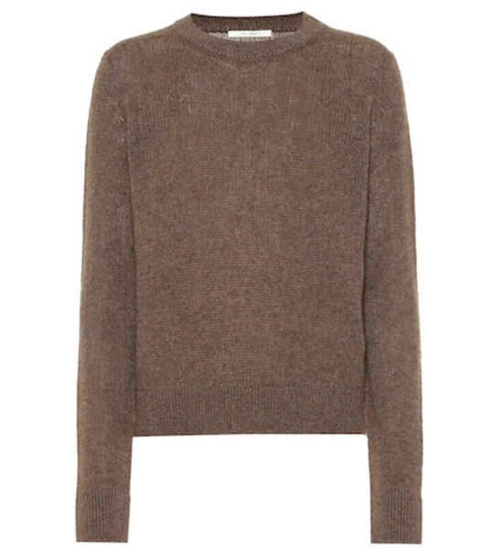 The Row Muriel cashmere sweater in brown