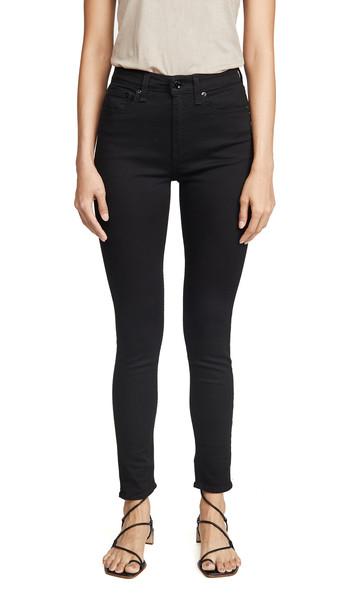 Rag & Bone/JEAN Nina High Rise Skinny Jeans in black