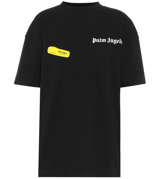 Palm Angels Logo cotton T-shirt in black