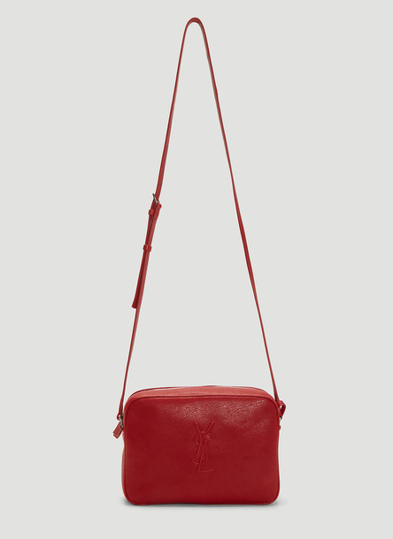 Saint Laurent Lou Leather Camera Bag in Red size One Size