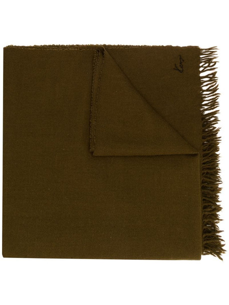Kenzo Pre-Owned 1990s fringed maxi scarf in brown