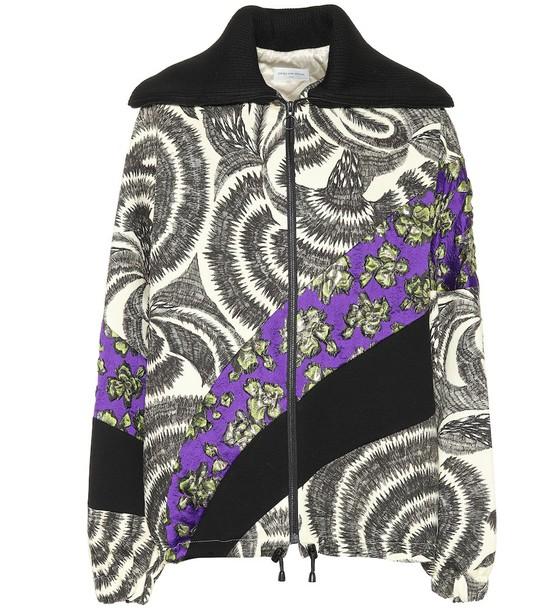 Dries Van Noten Jacquard zip-up jacket