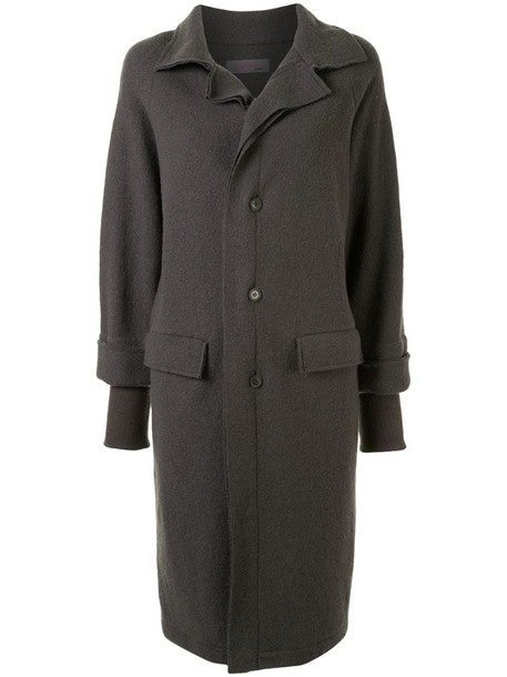 Yohji Yamamoto Pre-Owned double-layered knee-length coat in grey
