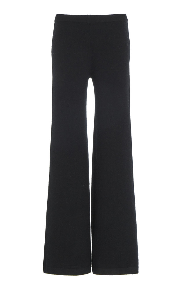 Madeleine Thompson Paean Cashmere Wide-Leg Pants Size: S in black
