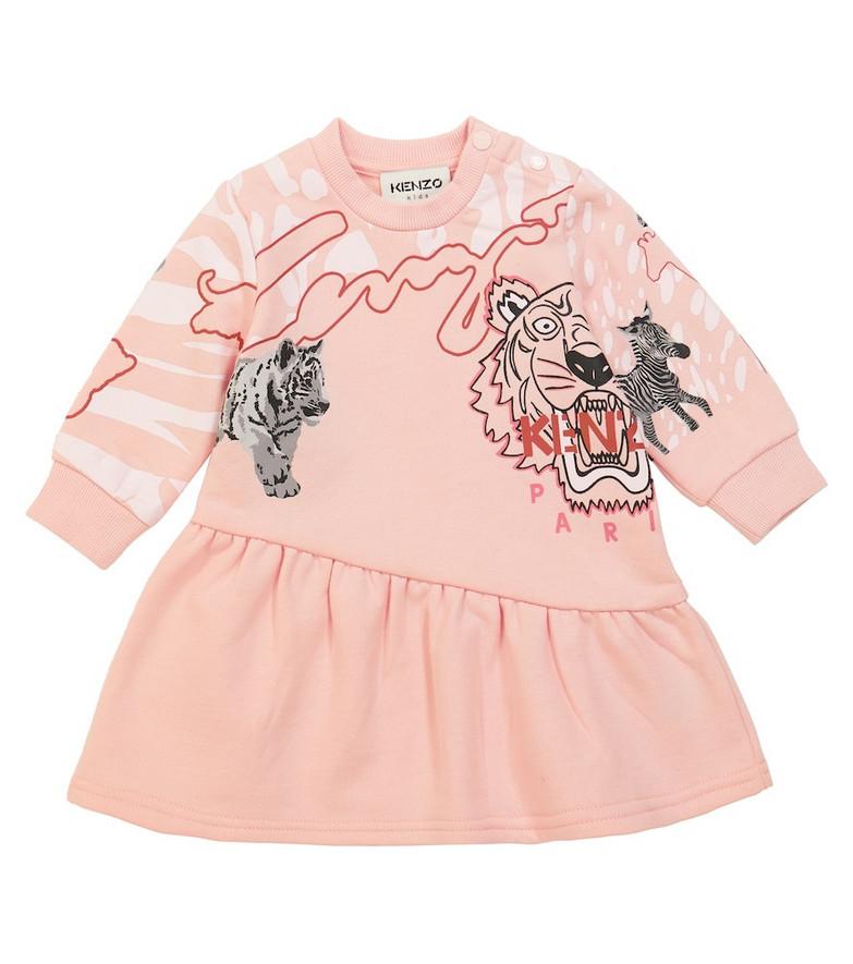 KENZO Kids Baby printed cotton-blend dress in pink