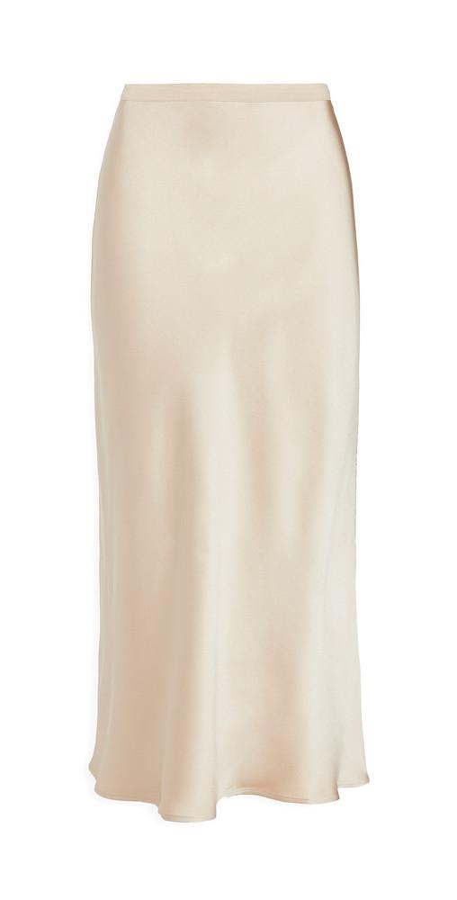 ANINE BING Bar Silk Skirt in beige