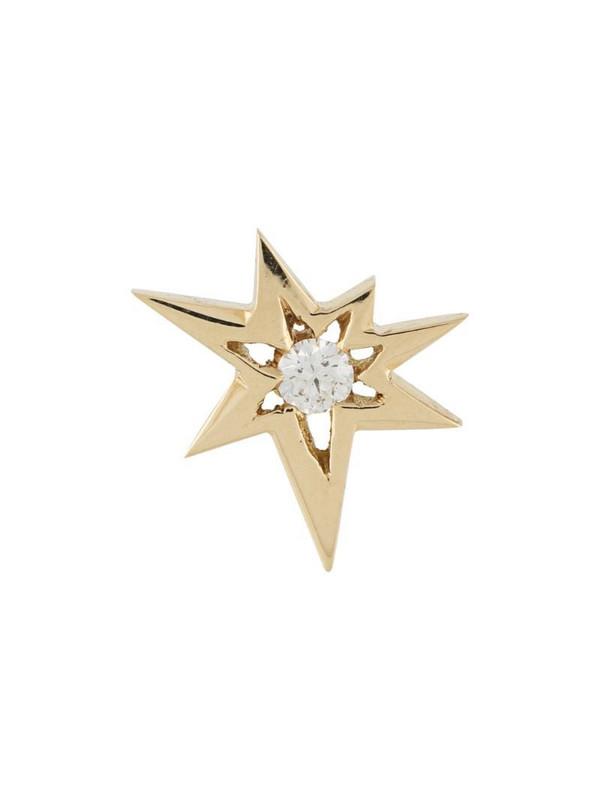 LE STER 18kt yellow gold diamond Bang stud earring