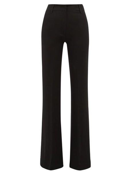 Ann Demeulemeester - High Rise Kick Flare Trousers - Womens - Black