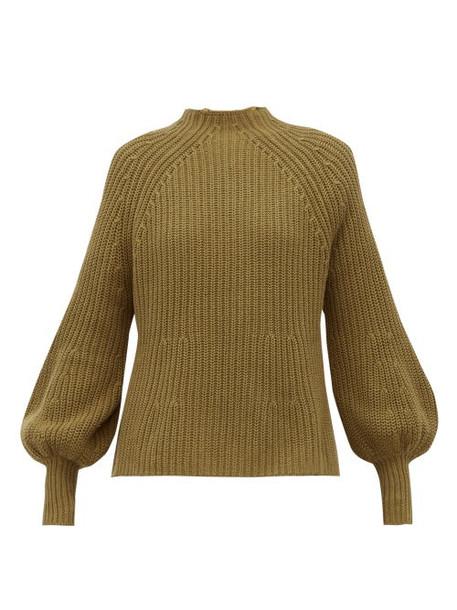Apiece Apart - Sequia Ribbed Cotton Blend Sweater - Womens - Khaki