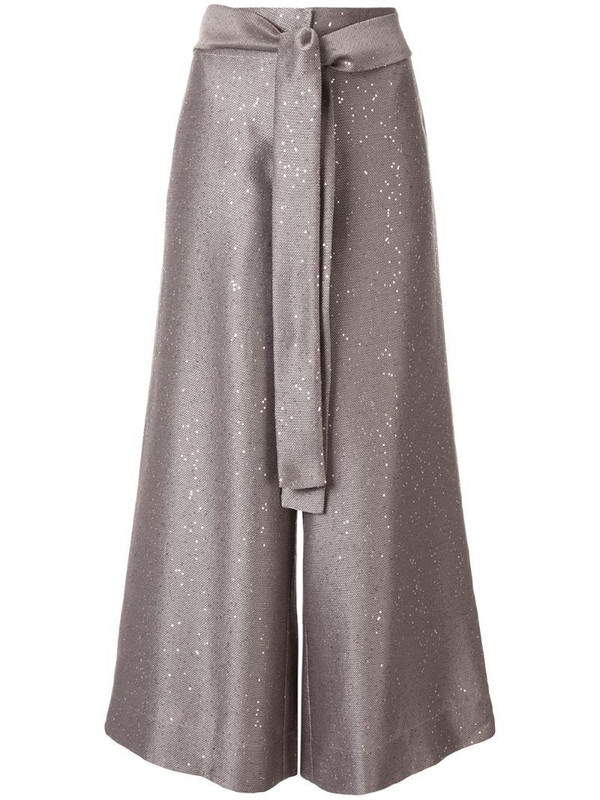 Paskal cropped belted trousers in pink