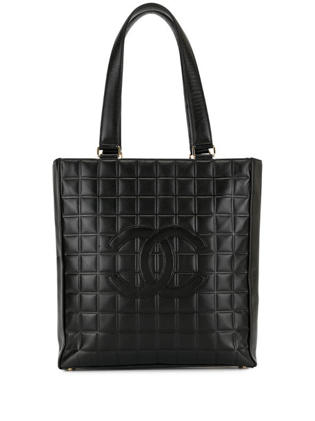 Chanel Pre-Owned 2001's choco bar shoulder tote bag in brown