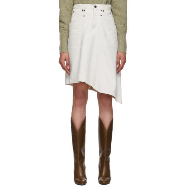 Isabel Marant Off-White Denim Dranel Skirt