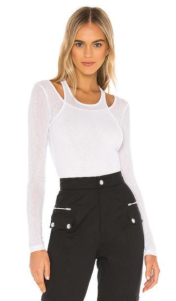 superdown Aliciana Slub Knit Top in White