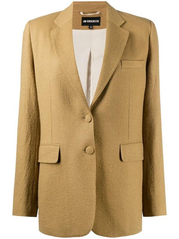 Ann Demeulemeester single-breasted blazer in neutrals