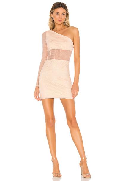 NBD Virgo Mini Dress in beige