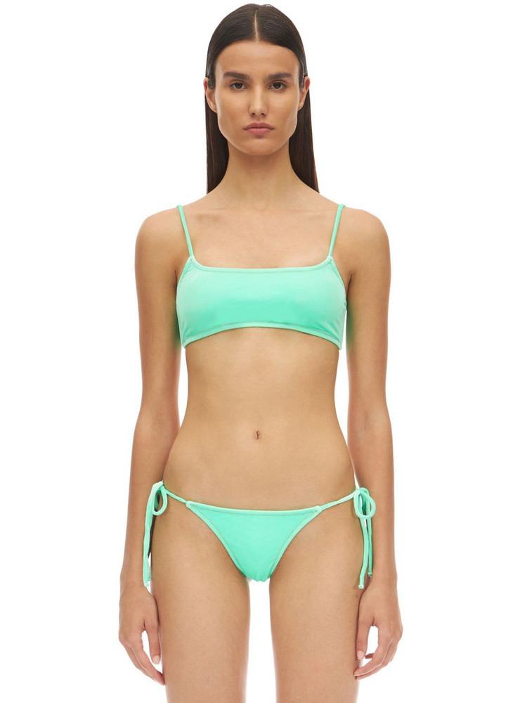 REINA OLGA Stella Love Velvet Bikini Set in green